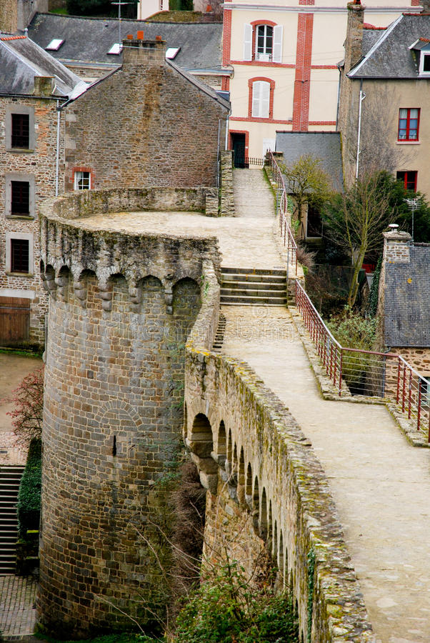 Download Tourism in Dinan stock image. Image of bridge, france - 18543435