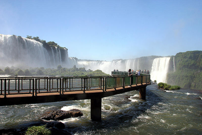 Download Tourism In Iguassu Falls, Brazil Editorial Stock Image - Image: 17945789