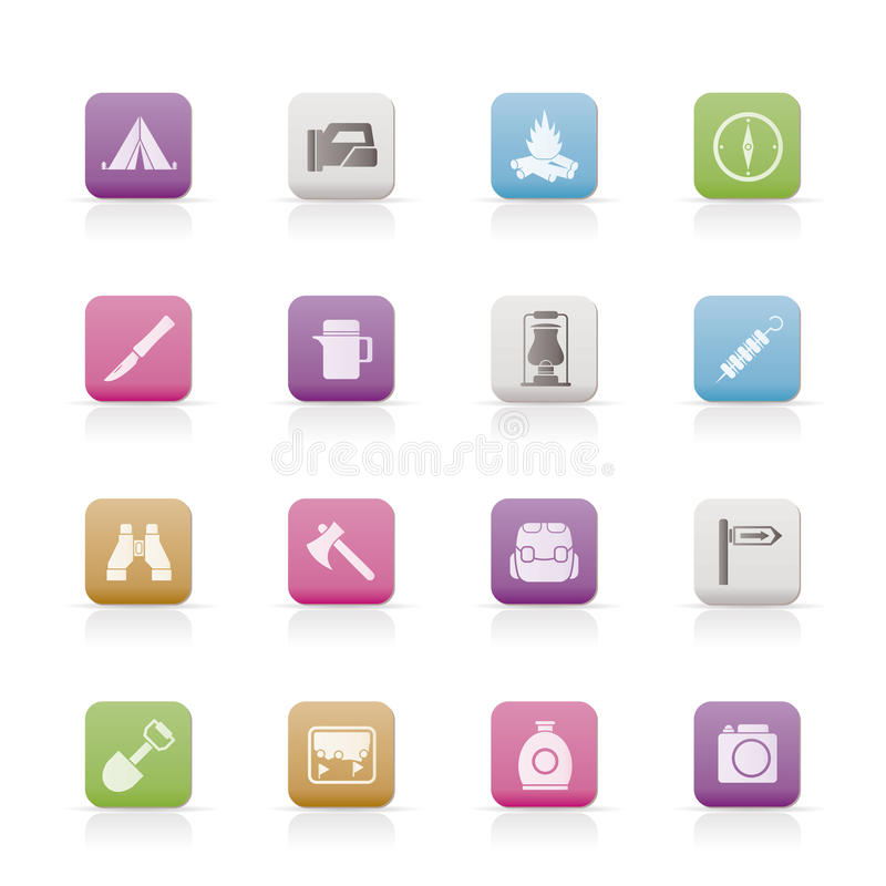 Download Tourism And Hiking Icons Stock Photography - Image: 13824822