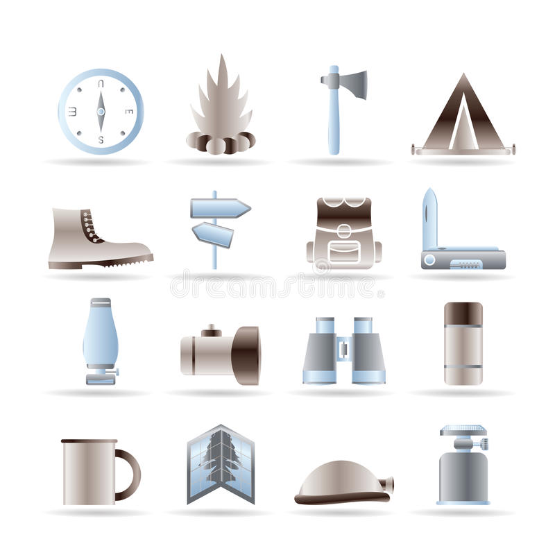 Download Tourism And Holiday Icons Stock Image - Image: 15270851