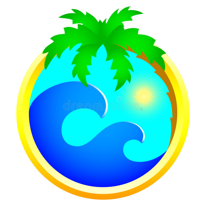 Download Tourism and holidays icon stock vector. Illustration of palm - 11827053