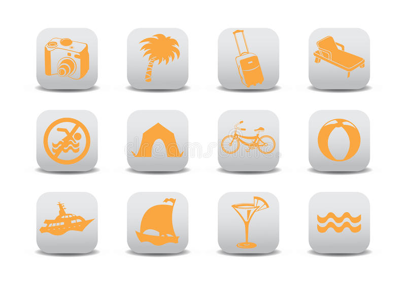 Download Tourism icons stock vector. Image of bicycle, hotel, icon - 17710989