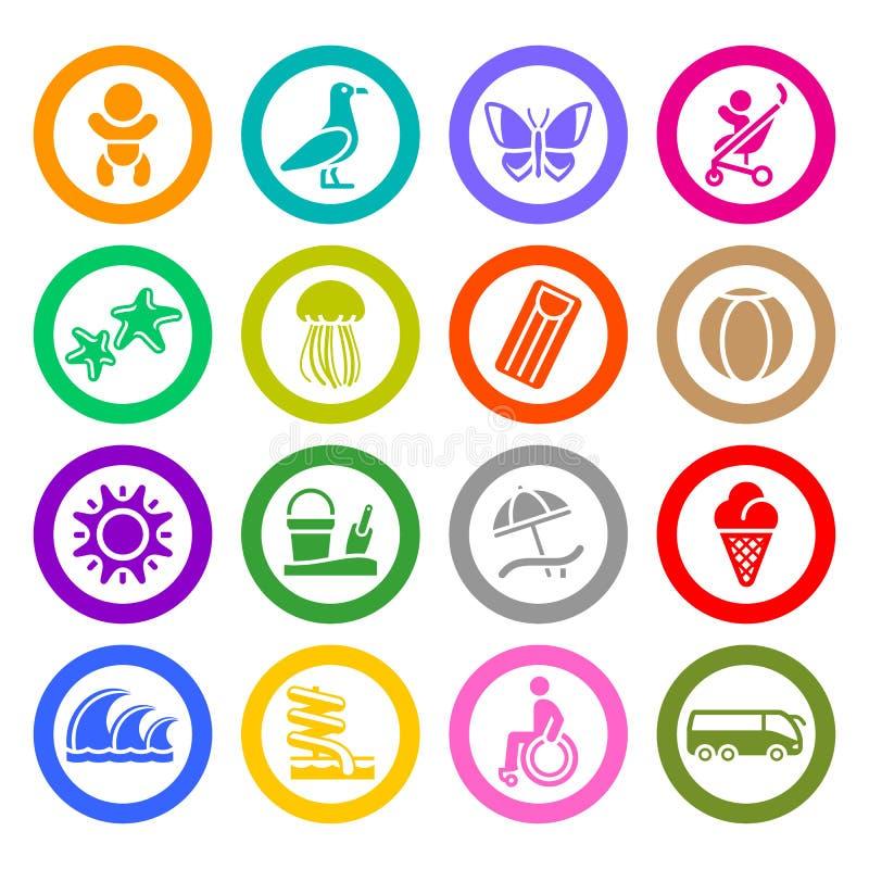 Free Tourism, Recreation & Vacation, Icons Set Royalty Free Stock Image - 28985546