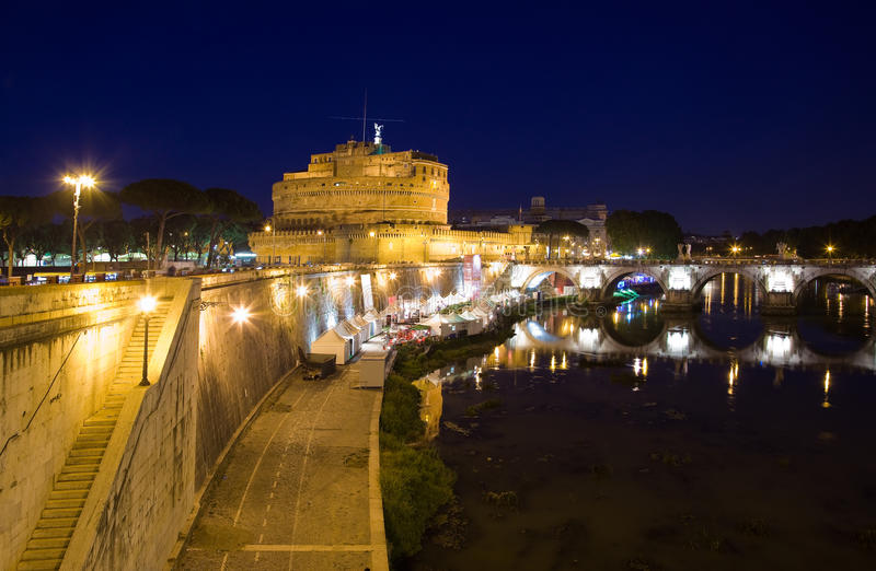Tourism Rome Castel Sant Angelo Stock Photo