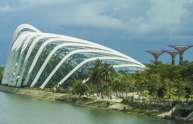 Download Tourism Singapore stock photo. Image of supertrees, marvels - 28534072