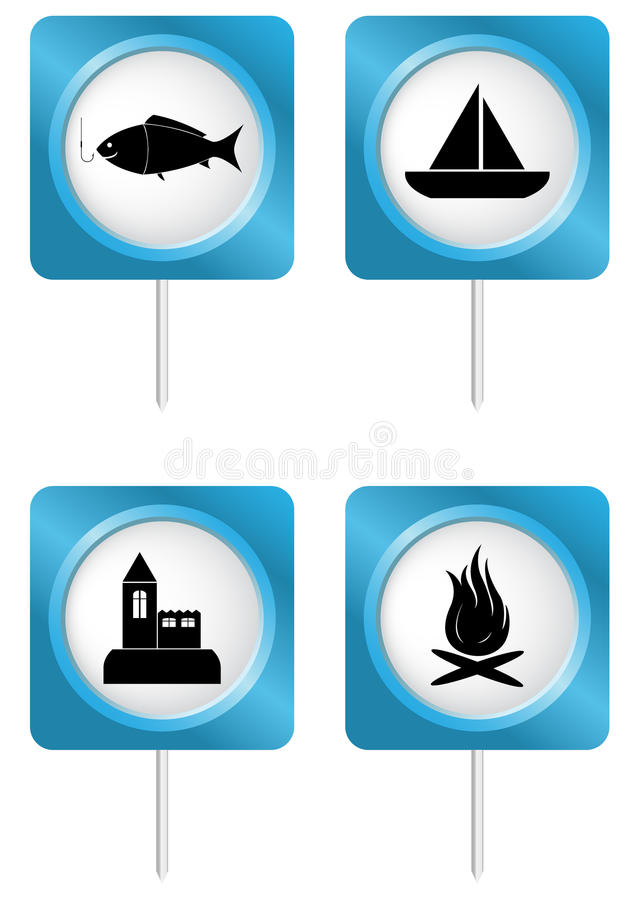 Download Tourism symbols 4 stock vector. Illustration of free - 24381742
