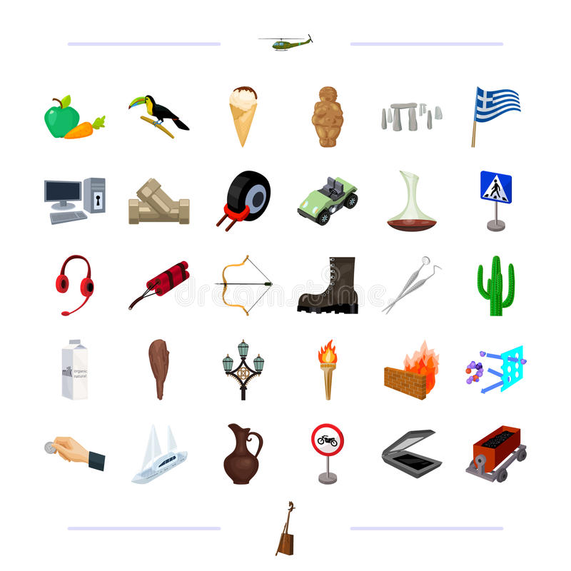 Tourism, technology, nature and other web icon in cartoon style. China, medicine, business icons in set collection. Tourism, technology, nature and other icon royalty free illustration