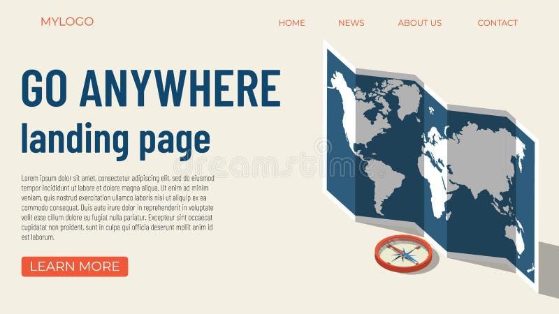 Tourism template concept vector illustration