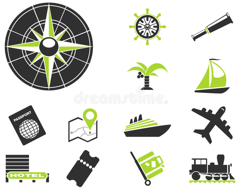 Tourism and Travel Icons vector illustration
