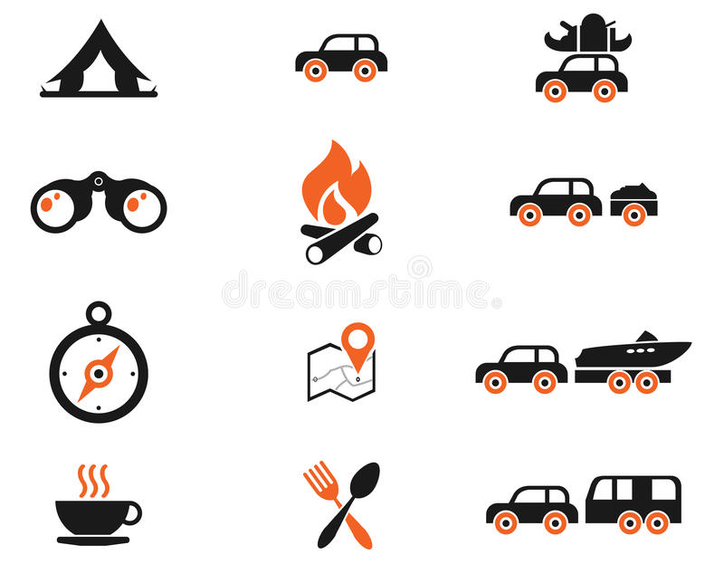 Tourism and Travel Icons royalty free illustration
