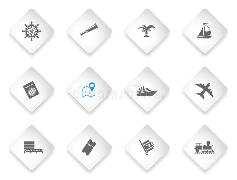 Tourism and Travel Icons stock illustration