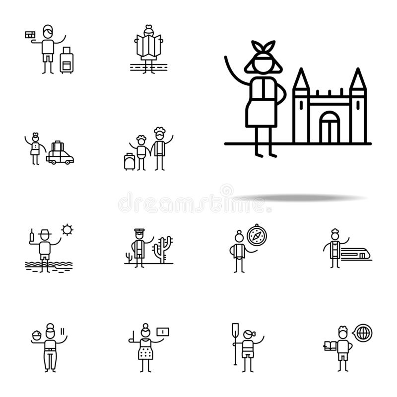 Tourism, traveller icon. Travel icons universal set for web and mobile vector illustration
