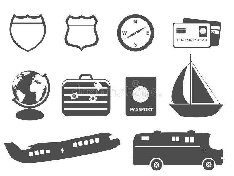 Tourism, vacation and travel royalty free illustration