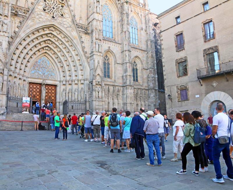 Tourisme À Barcelone images libres de droits