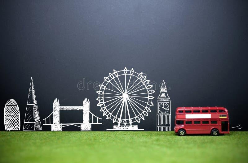 Tourisme d'horizon de Londres image libre de droits