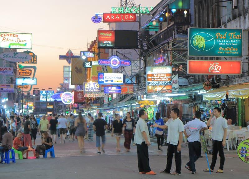 Tourisme de Bangkok de route de Khaosan photos libres de droits