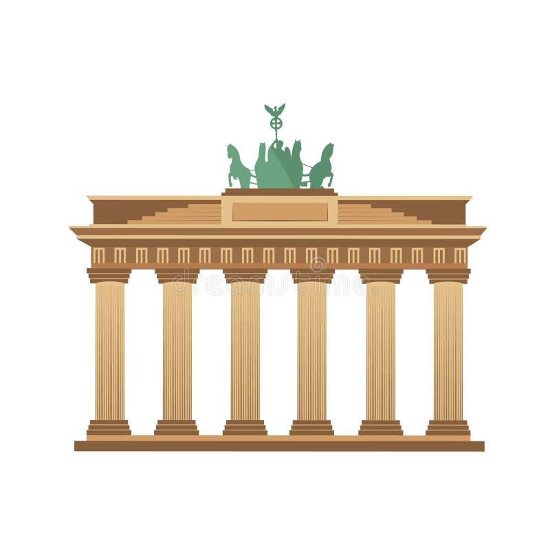 Tourisme de Berlin Germany de Porte de Brandebourg illustration libre de droits