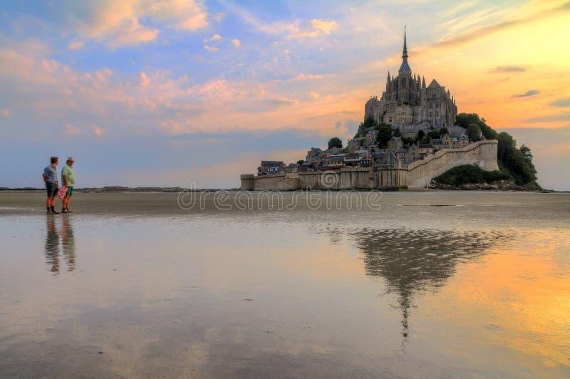 Tourisme de le Mont Saint-Michel photos libres de droits