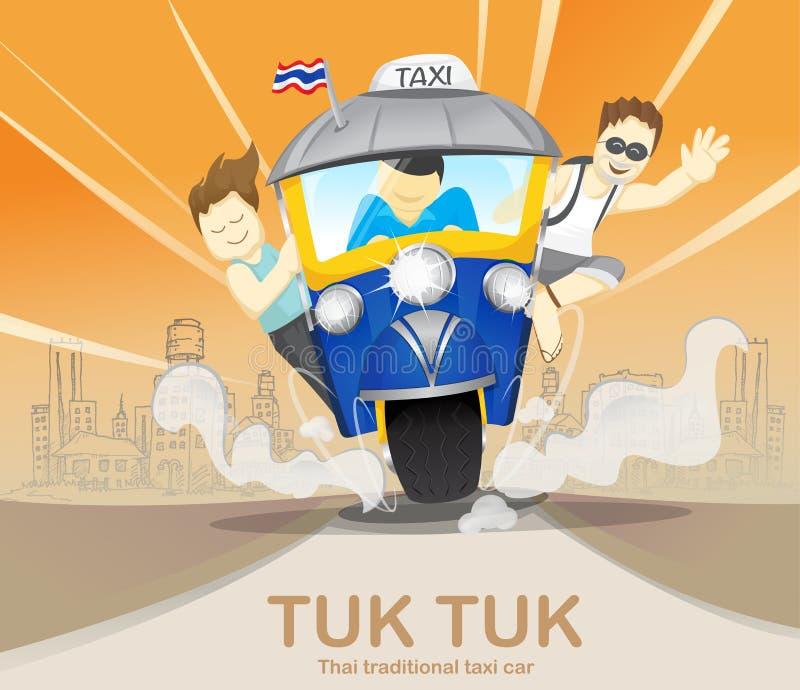 Tourisme sur le tuk de tuk conduisant pour voyager, voyages de voyage, aventure, transport, Thaïlande image stock