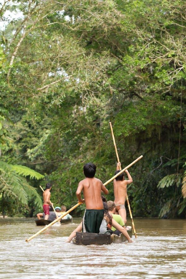 Tourismus in Amazonas-Gebiet lizenzfreies stockbild