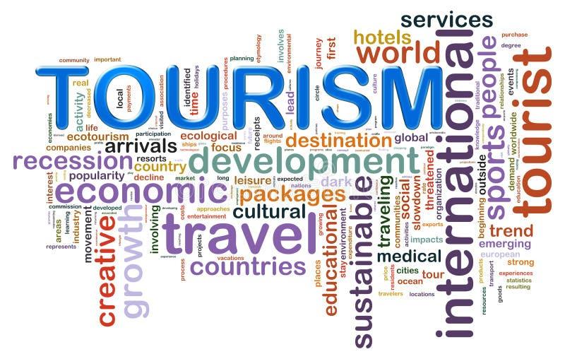 Tourismuswortmarken stock abbildung