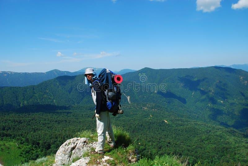 Download Tourist stockfoto. Bild von plot, wiese, hügel, rückseite - 12202764