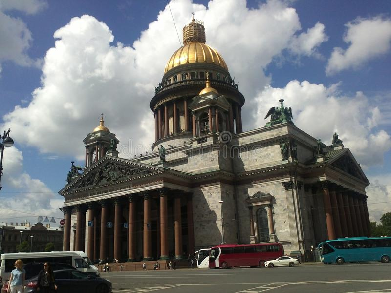 Picturesque places of St. Petersburg. Saint Isaac`s Cathedral stock photos