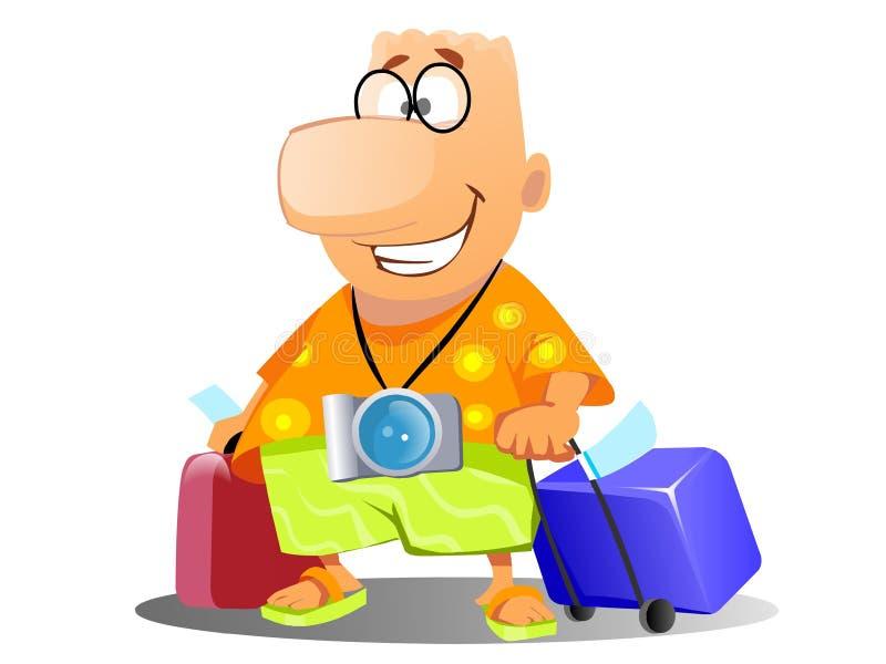 Tourist auf Ferien lizenzfreie abbildung
