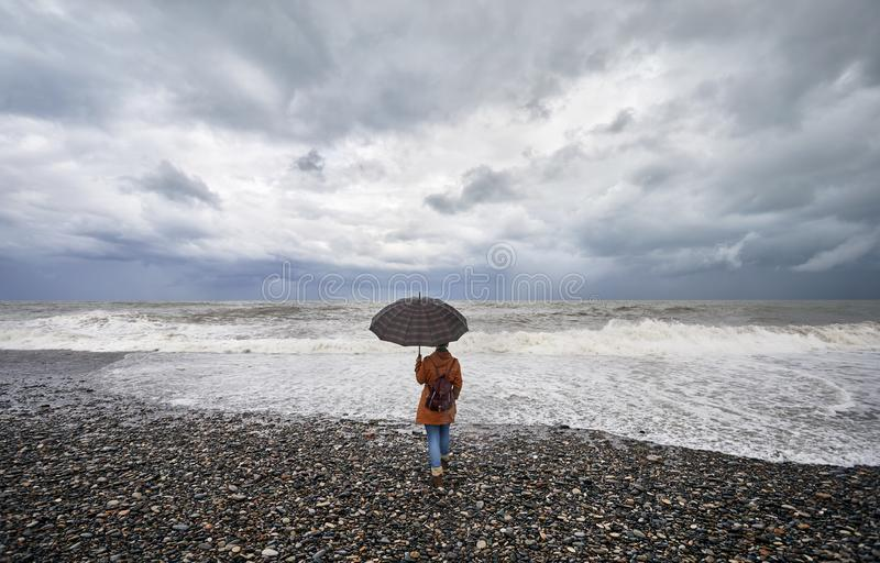 Tourist in Batumi royalty free stock images