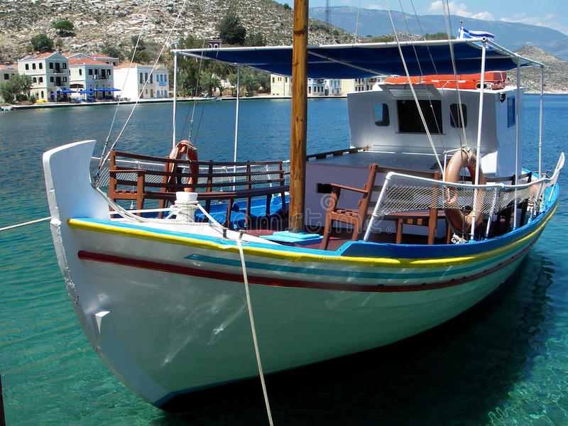 Tourist boat, Greece royalty free stock photography