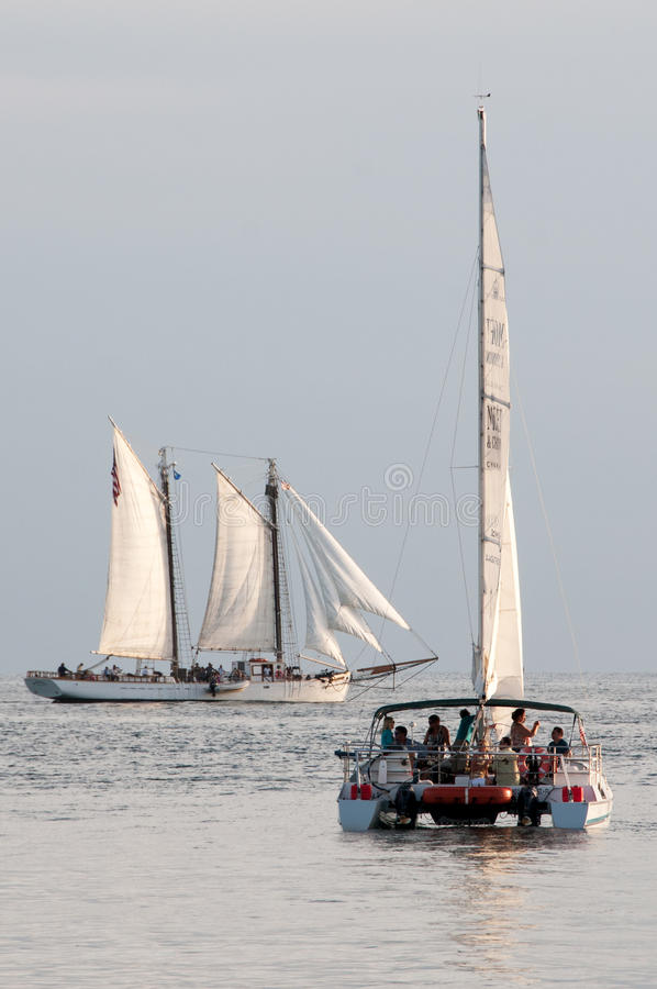 Tourist boats royalty free stock photography