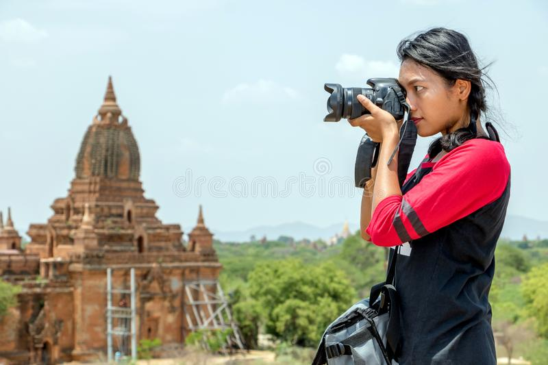 The tourist in Burma royalty free stock photo