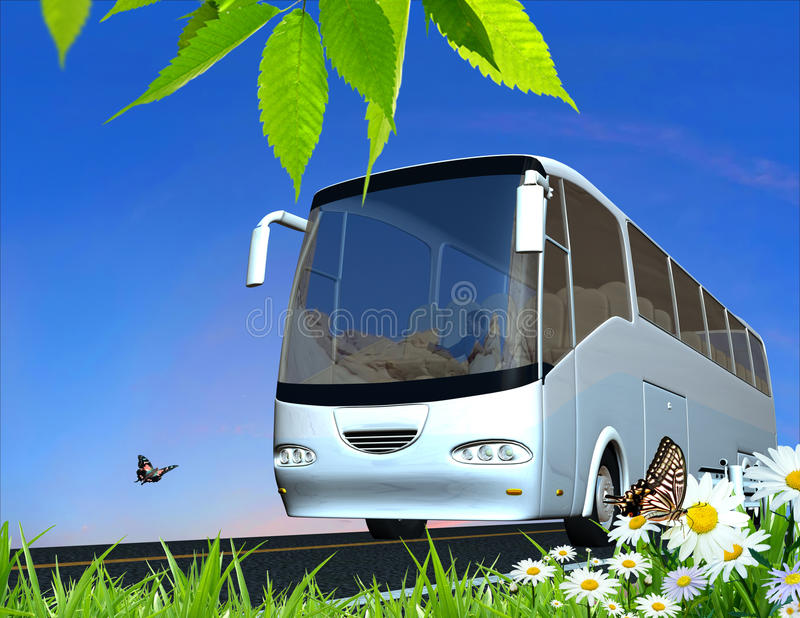 The tourist bus stock images