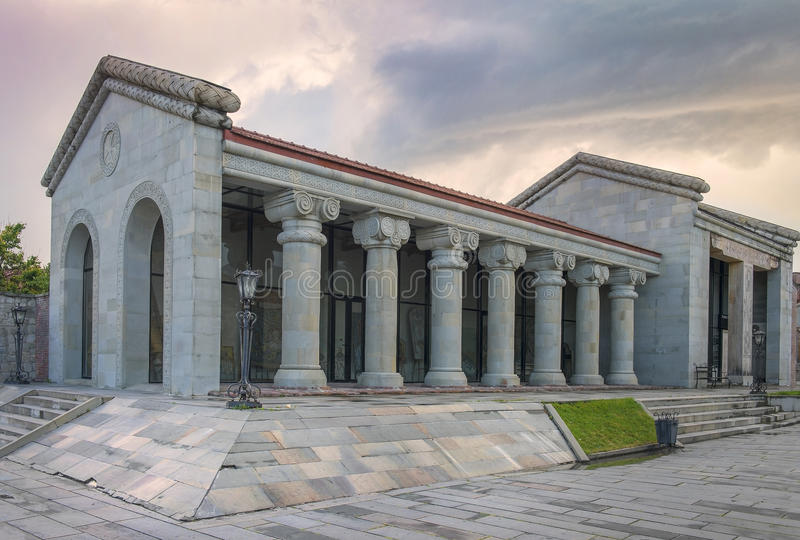 Tourist center in Mtskheta, Georgia royalty free stock images