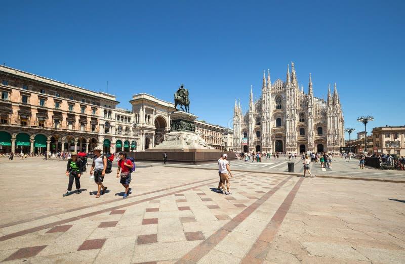 The tourist centre of Milan royalty free stock photo
