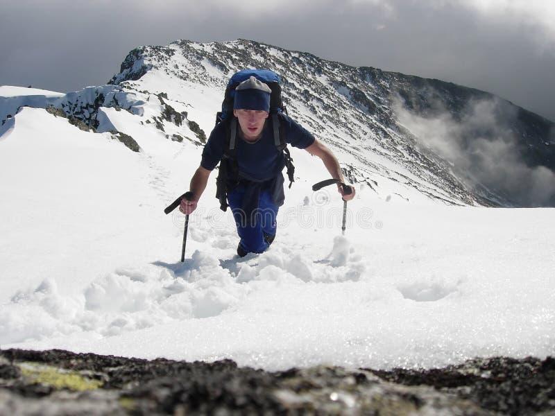 Tourist climber stock images