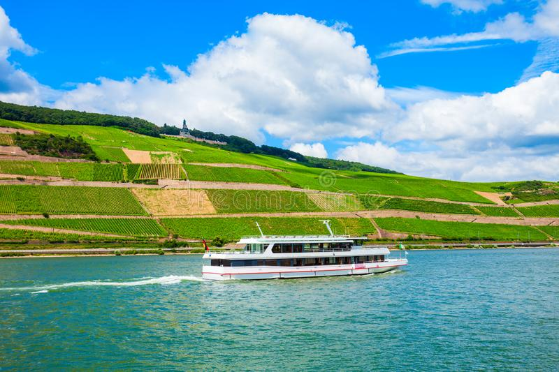 Tourist cruse boat in Germany stock photography