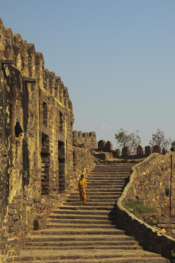 Download Tourist Descending Stairs, Golconda, Hyderabad Editorial Photography - Image: 23851472