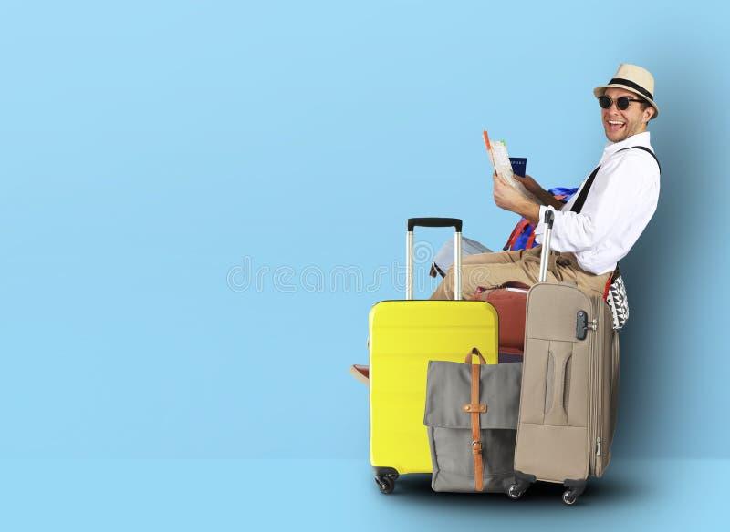 Tourist in einem Hut lizenzfreies stockbild