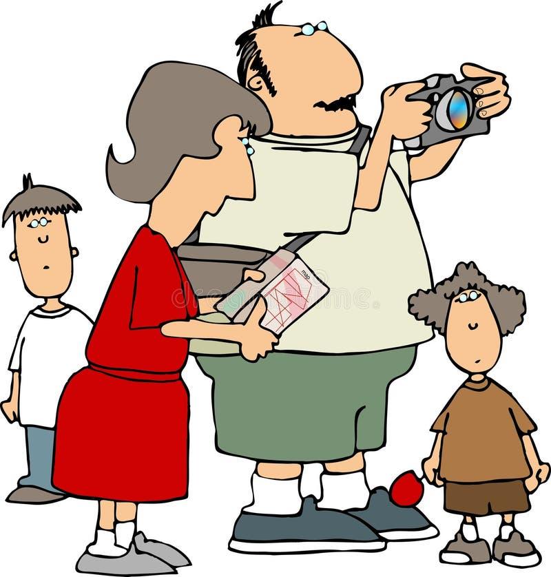 Tourist family vector illustration