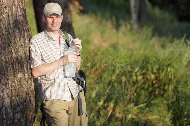 Download Tourist in the forest stock image. Image of ecology, scenic - 18859267