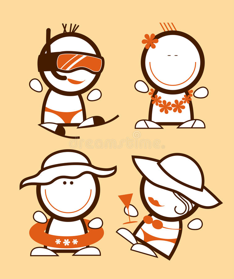 Tourist funny peoples. vector illustration
