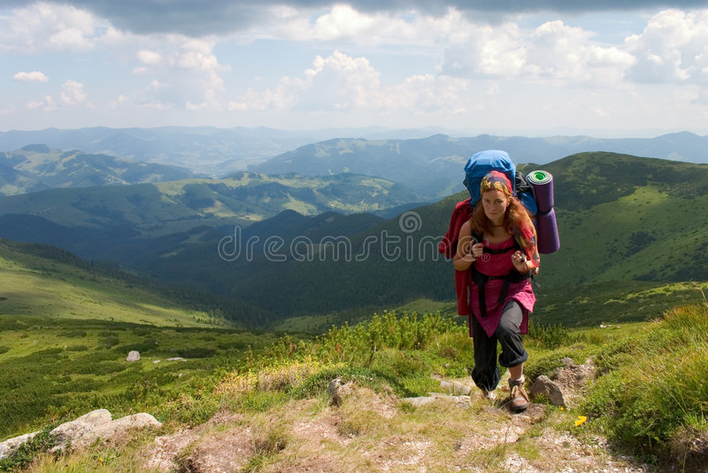 Tourist girl royalty free stock image