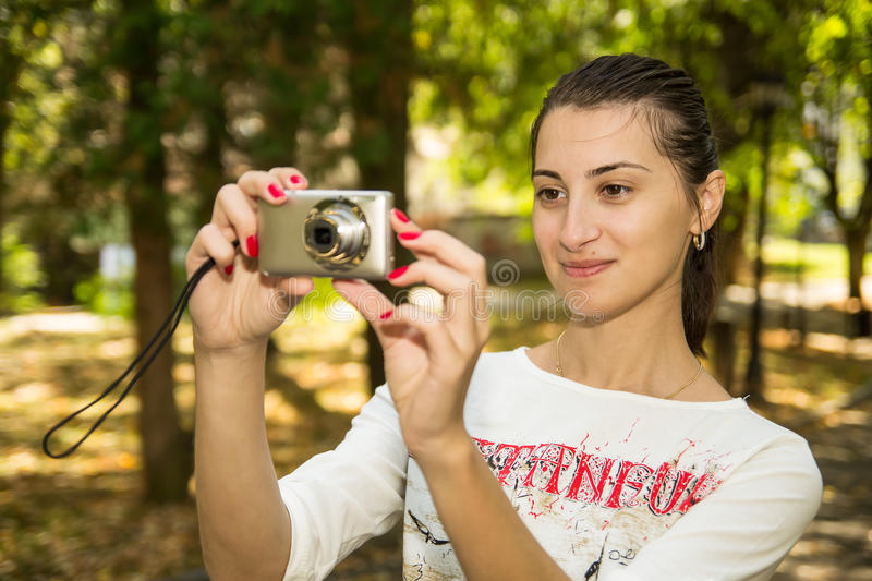 Tourist Girl stock images