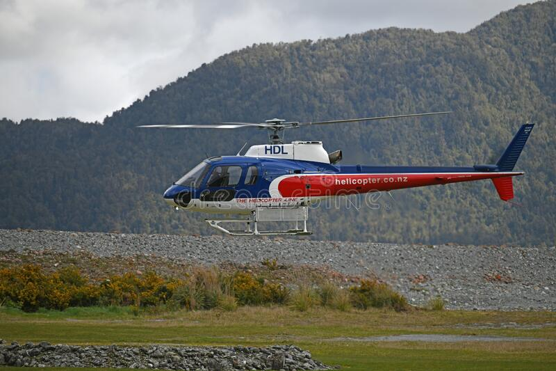 Tourist helicopter at Franz Josef royalty free stock photography