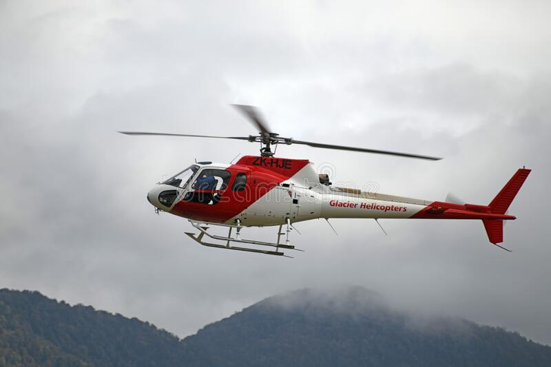 Tourist helicopter at Franz Josef royalty free stock photos