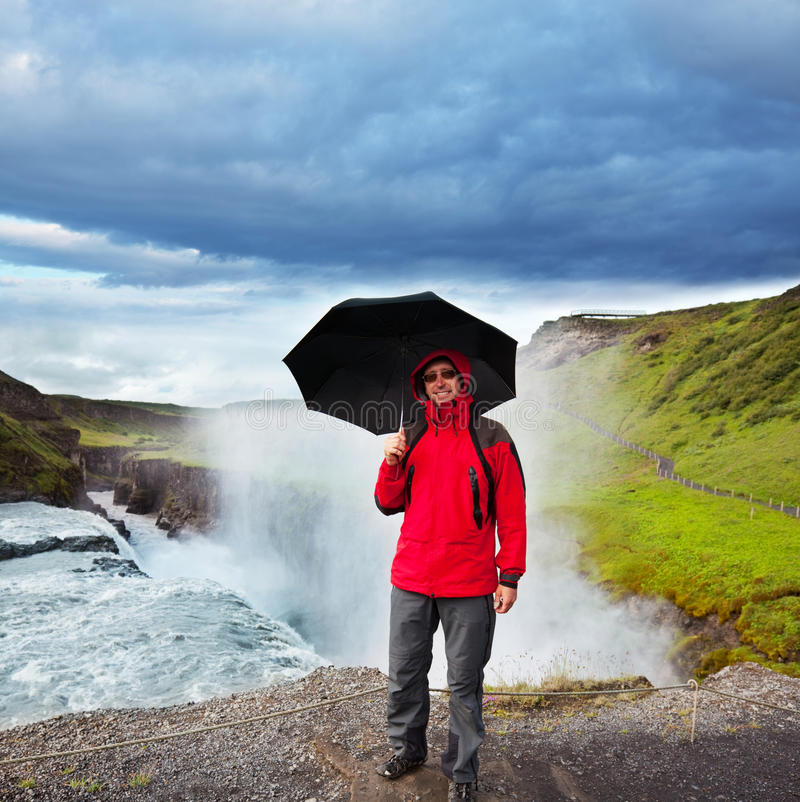 Download Tourist in Iceland stock photo. Image of rain, landscape - 21128022