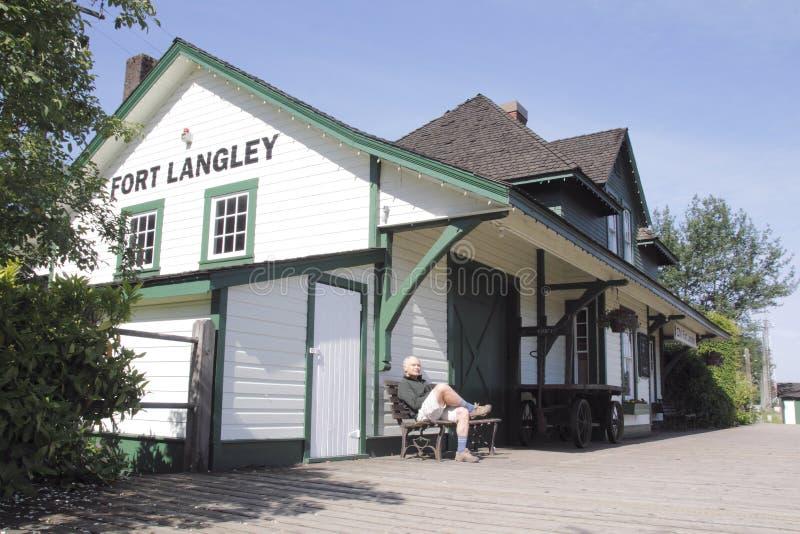 Tourist im Fort Langley stockbilder