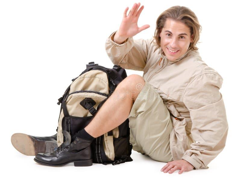 Tourist im Ruhezustand stockfoto