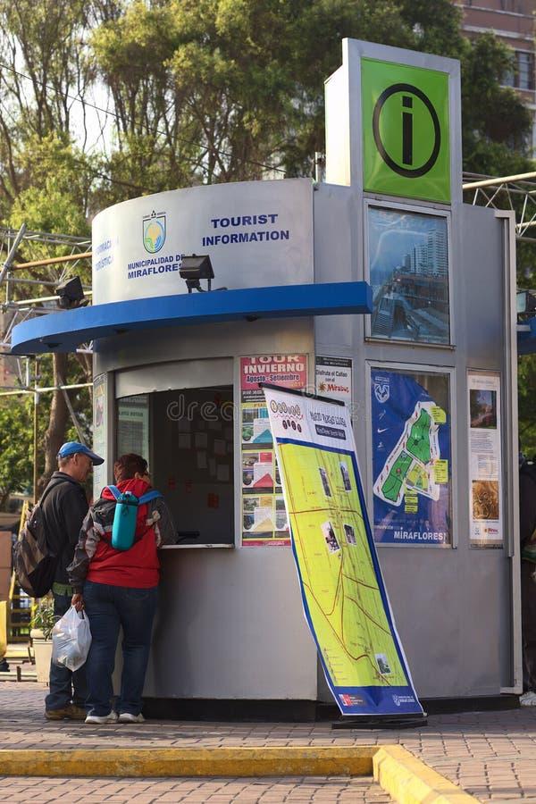 Tourist Information in Miraflores, Lima, Peru stock photos